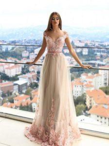 нежное выпускное платье 2019