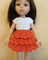 юбка для куклы крючком