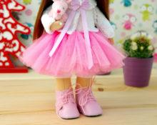 юбка из фатина для куклы