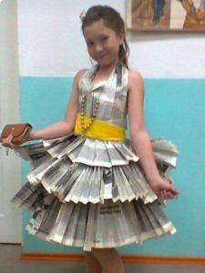 юбка из газеты