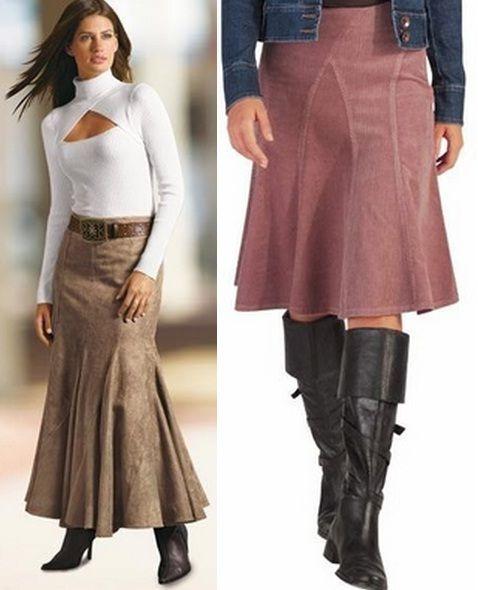 Разная длины юбки годе