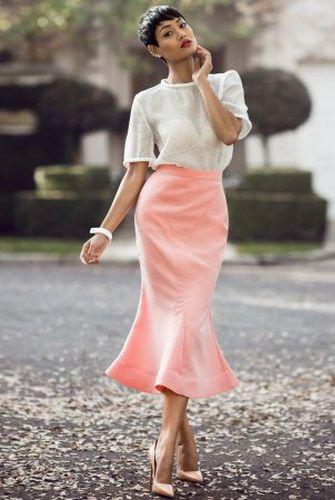 Юбка годе розовая