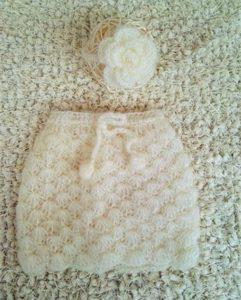 Белая юбка из мохера