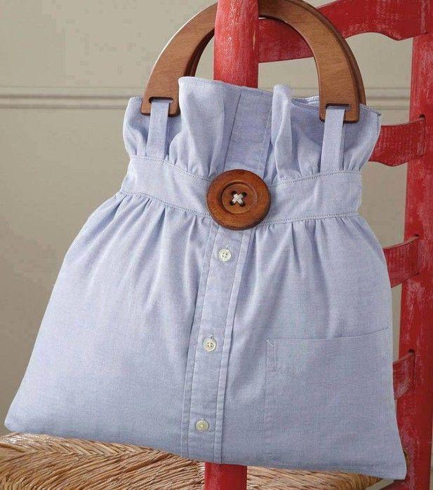 сумка из рубашки