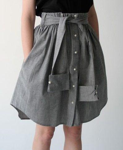юбка из рубашки