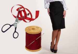необходимые материалы для создания юбки карандаш