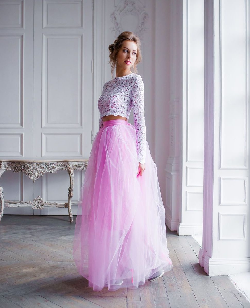 Розовая юбка-пачка из фатина