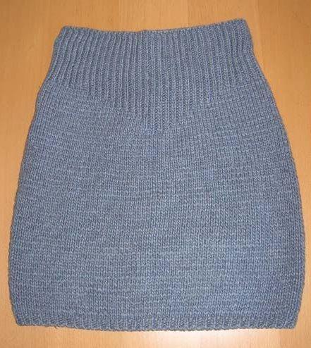 Серая юбка спицами резинкой