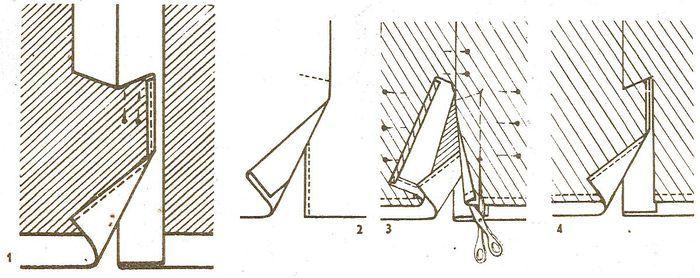 Обработка шлицы на юбке пошагово