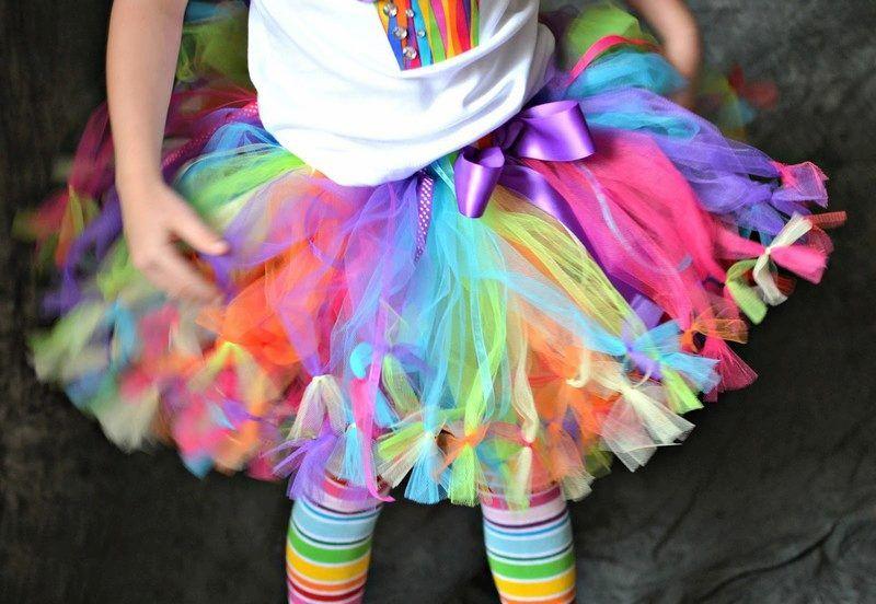 Цветная юбка туту из фатина