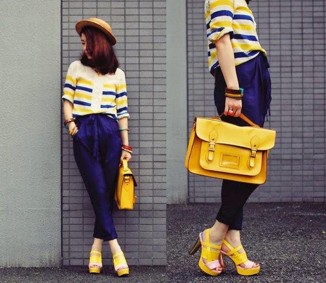 желтая сумка в стиле кэжуал
