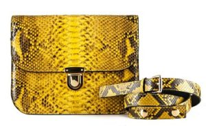желтая сумка под змею