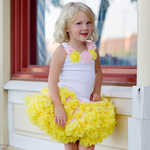 Желтая юбка американка