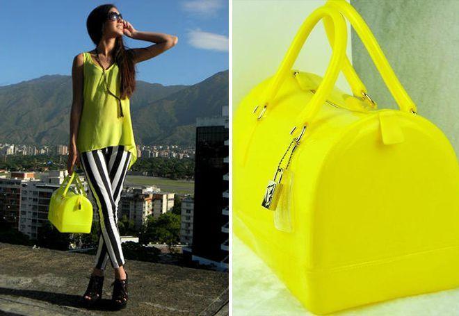 Ярко-желтая сумка