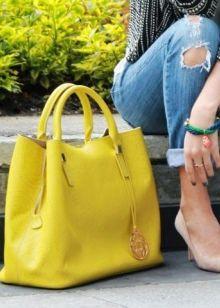 Желтая сумка для шоппинга