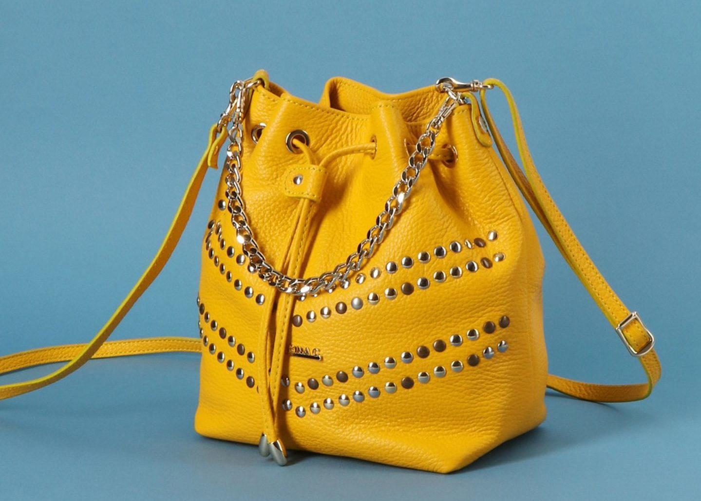 Желтая сумка кисет