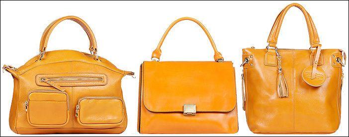 Модели желтых сумок для делового стиля