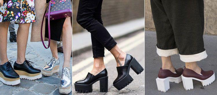 Женские оксфорды на высоких каблуках
