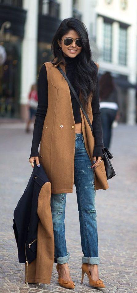 жилетка из пальто