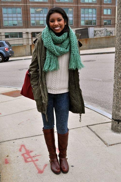 с чем носить зимой