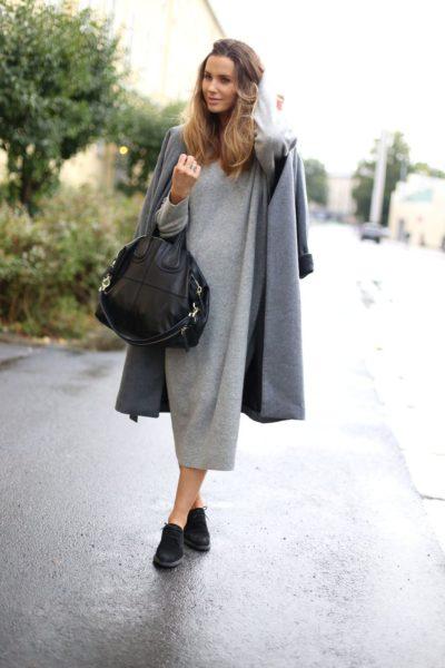 миди-платье из шерсти