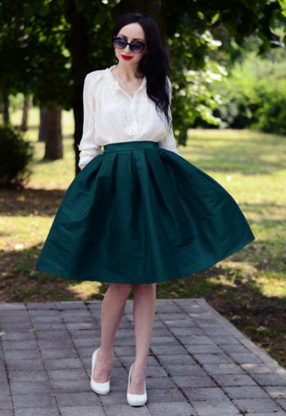 атласная юбка-солнце