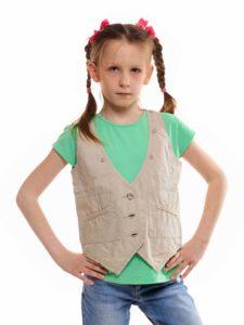 выкройка жилетки на девочку