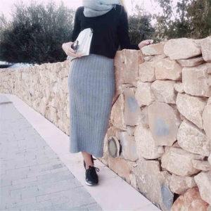 аксессуары к длинной шерстяной юбку