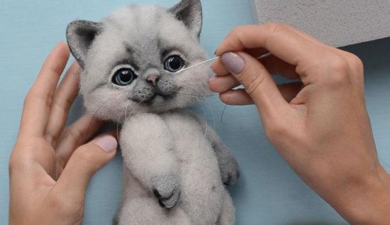 котенок из шерсти