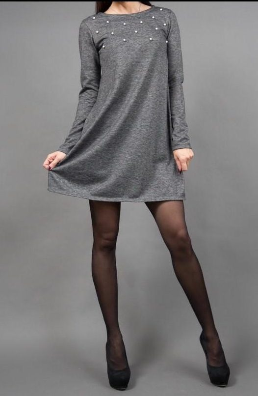 платье трапеция из трикотажа