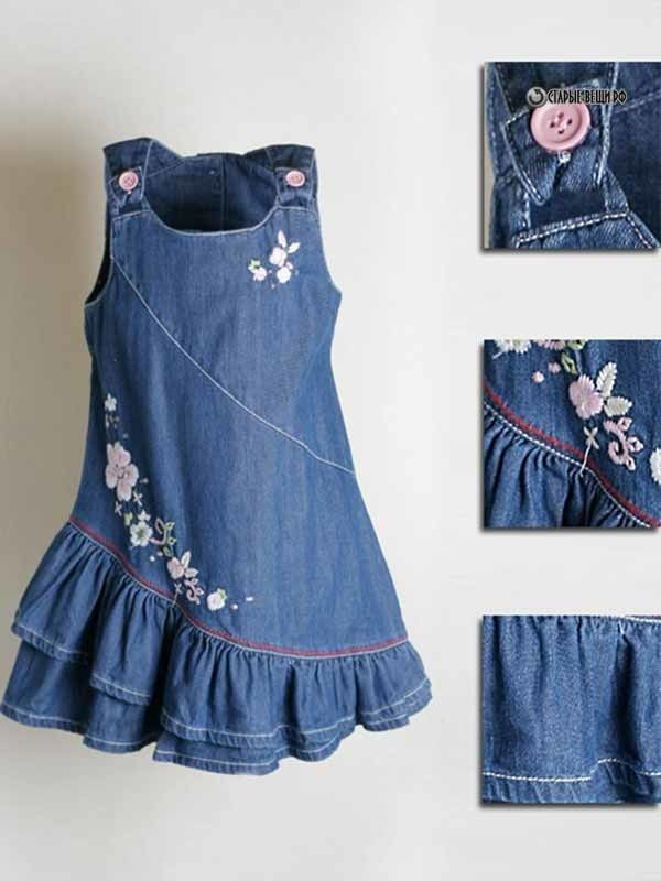 платье из джинс