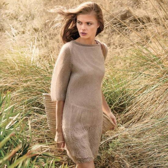 платье из тонкой пряжи