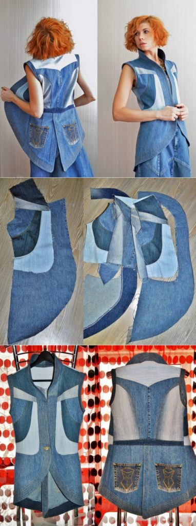 туника из джинс