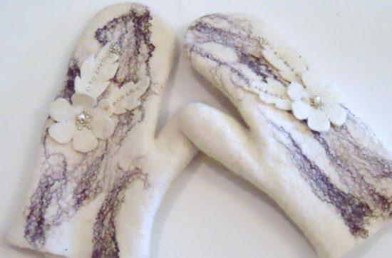 варежки из шерсти