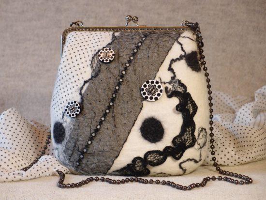 сумка-клатч из шерсти