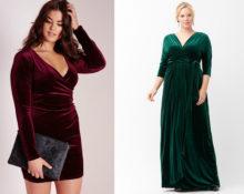 бархатные платья для полных