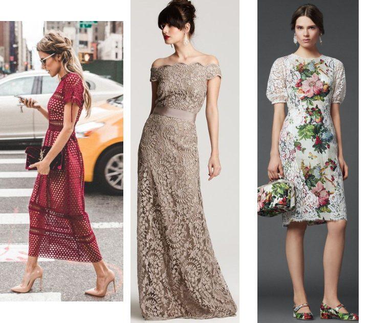 гипюровые платья в обтяжку