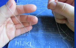 Как сделать петельку из одной нитки