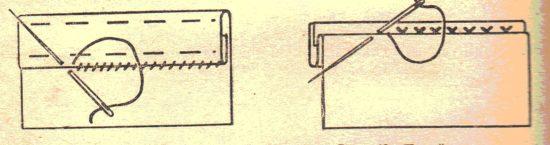 подшивочный потайной шов