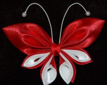 Атласные ленты бабочка