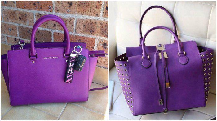 Фиолетовая сумка