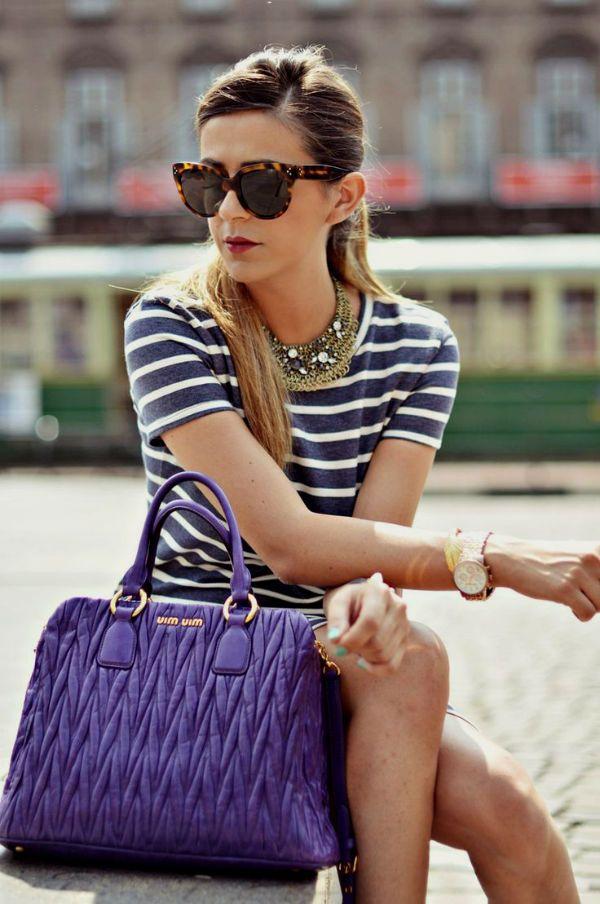 Фиолетовая сумка на каждый день