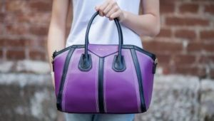 Фиолетовая сумка тоут
