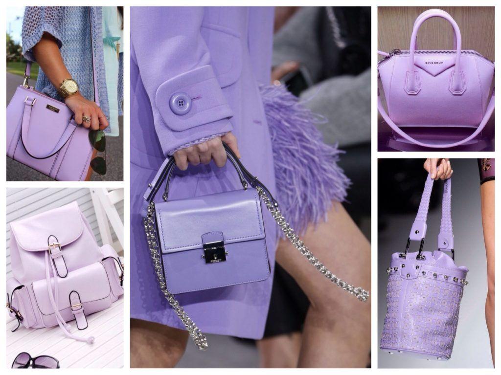 Фиолетовая сумка виды