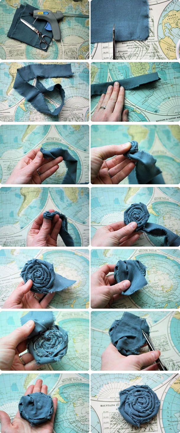 Делаем цветы из ткани