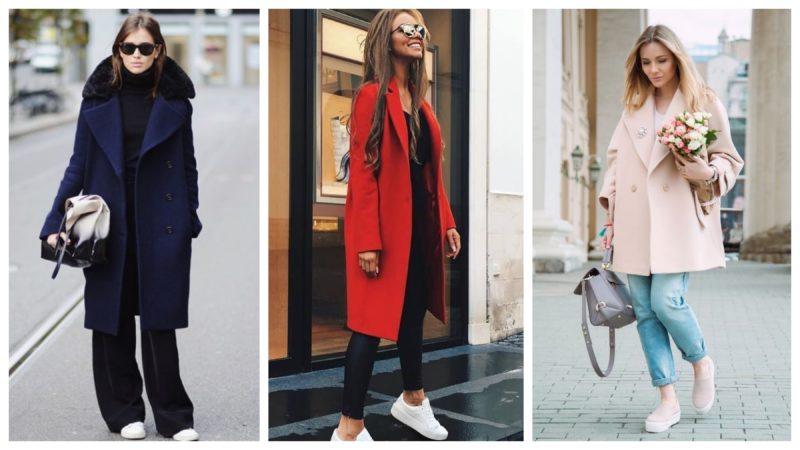 стильные образы с драповым пальто