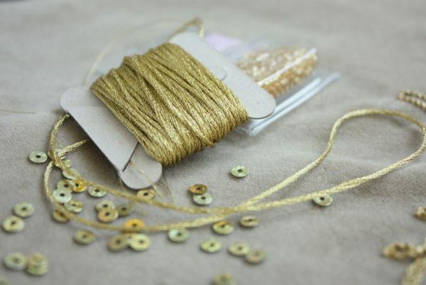 набор для шитья золотом