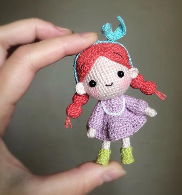 Игрушки месеризованный хлопок куколка