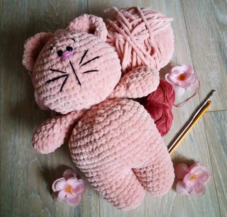 Игрушки розовый кот