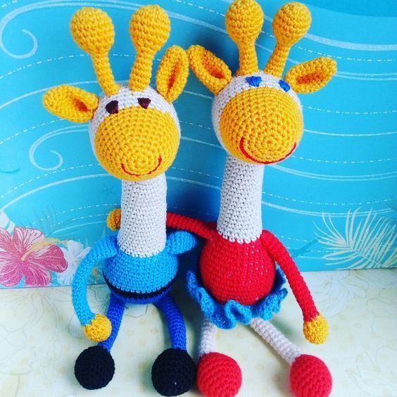 Игрушки радужные жирафы